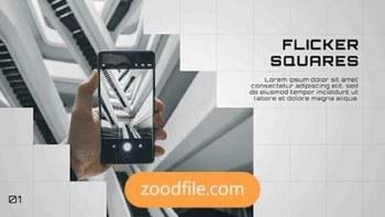 پروژه آماده پریمیر معرفی شرکت Flicker-Square