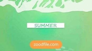 پروژه آماده افترافکت اسلایدشو Summer-Slide