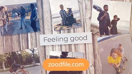 پروژه آماده پریمیر اسلایدشو Feeling-Good