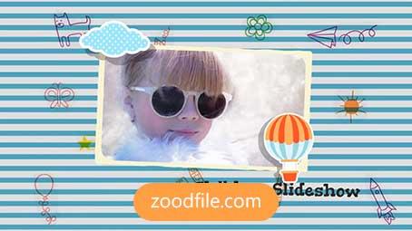 پروژه آماده افترافکت کودک Kids-Slidshow