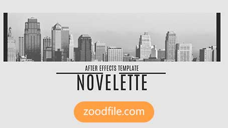 پروژه آماده افترافکت رایگان اسلایدشو Novelette