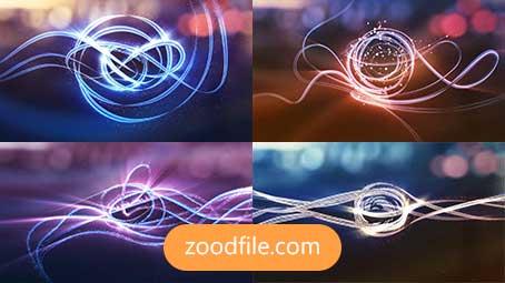 پروژه آماده افترافکت لوگو Glowy-Lines