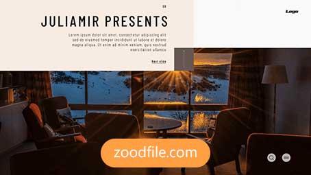 پروژه آماده افترافکت معرفی Minimal-Slideshow