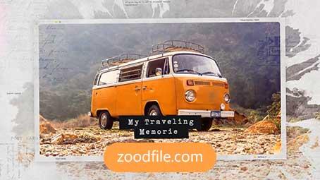 پروژه آماده افترافکت رایگان اسلایدشو Traveling