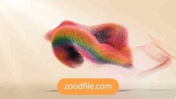 پروژه آماده افترافکت لوگو Colorful-Particles