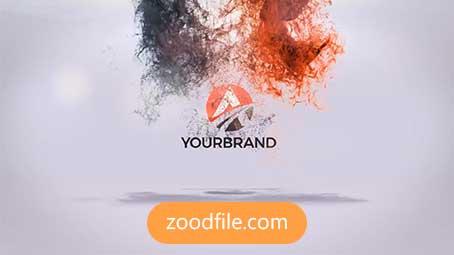 پروژه آماده افترافکت لوگو Particles-Logo
