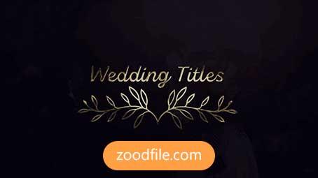پروژه آماده پریمیر تایتل عروسی Gold
