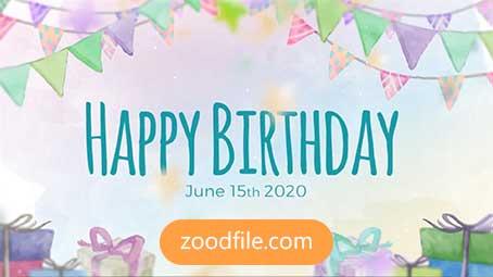 پروژه آماده افترافکت تولد کودک Birthday-Slideshow